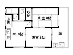 第一山本荘[1階]の間取り
