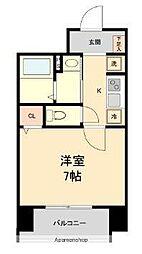 HF仙台本町レジデンス 9階1Kの間取り