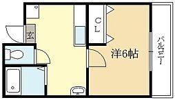 広野町マンション[1階]の間取り