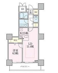 JR常磐線 南千住駅 徒歩5分の賃貸マンション 10階1LDKの間取り