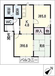 フォーレス西田I[2階]の間取り