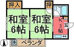 宮崎コーポ[301号室]の間取り