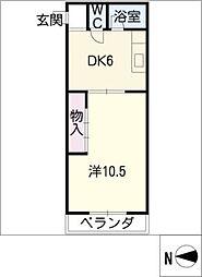 佐枝ビル[3階]の間取り
