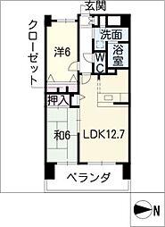 S−FORT山王[4階]の間取り