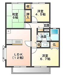 サンビレッジ花見川A〜D[1階]の間取り