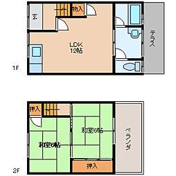 [テラスハウス] 奈良県香芝市磯壁4丁目 の賃貸【/】の間取り