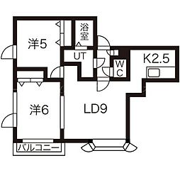 カーネガット[2階]の間取り