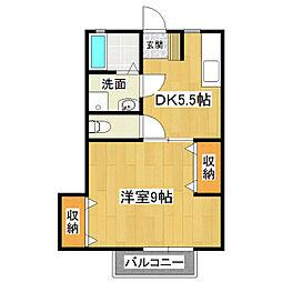 エスターエイト[2階]の間取り