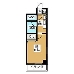 バインオーク イレブン[8階]の間取り