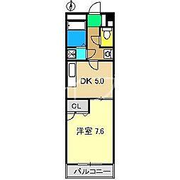 テポーレ・ヒル[4階]の間取り