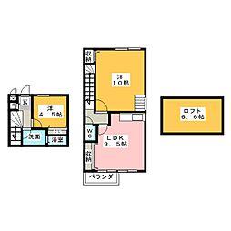 愛知県名古屋市中川区笈瀬町2の賃貸マンションの間取り