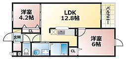 兵庫県神戸市灘区新在家南町4丁目の賃貸マンションの間取り
