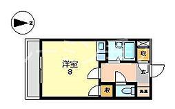 サンリベラル[2階]の間取り