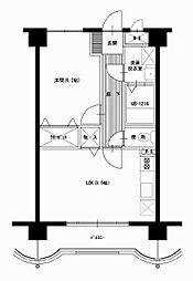 松橋マンション[506号室]の間取り