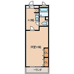 フジマンション[513号室]の間取り