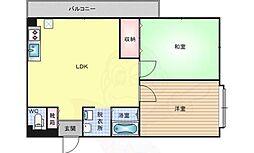 エスポワール参番館 5階2LDKの間取り