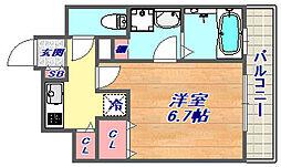 兵庫県神戸市東灘区森北町3丁目の賃貸マンションの間取り