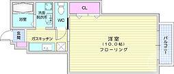仙台市営南北線 愛宕橋駅 徒歩14分の賃貸アパート 1階1Kの間取り