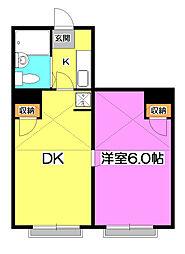 パレスラック[1階]の間取り