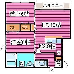 北海道札幌市北区篠路四条6丁目の賃貸アパートの間取り