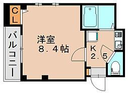 ピュア箱崎弐番館[3階]の間取り