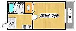 メゾンフェニックス[3階]の間取り
