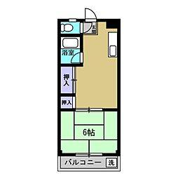 コーポラス宮崎[302号室]の間取り