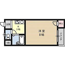 マンション一里塚[3階]の間取り