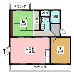 アスティ黒田[1階]の間取り