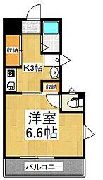 シオミプラザサード[1階]の間取り