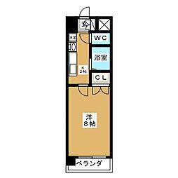 ヒルズ新栄[9階]の間取り