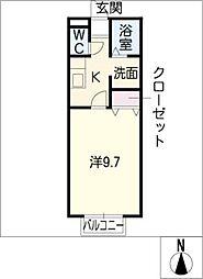 モンターニュ高岡[1階]の間取り