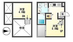 mint(ミント)[2階]の間取り