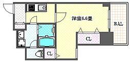 Osaka Metro谷町線 天満橋駅 徒歩5分の賃貸マンション 5階1Kの間取り