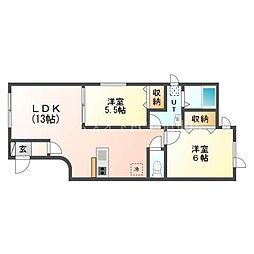 北海道札幌市東区北四十六条東17丁目の賃貸アパートの間取り