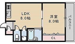 コーポイン美章園&河堀口[505号室]の間取り