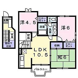 ファイン ブラザー(アパート) 2階3LDKの間取り