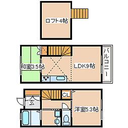 [テラスハウス] 兵庫県神戸市西区前開南町1丁目 の賃貸【/】の間取り