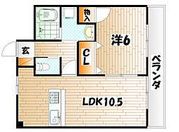 サニーヴィラ[3階]の間取り