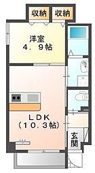 仮)中区正木3丁目自宅併用店舗マンション[7階]の間取り