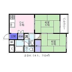 コーポ塚本 北館[2階]の間取り