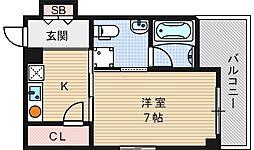 ヒルトップハイム桜川[6階]の間取り