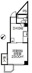 内田橋ロイヤルハイツ2[1階]の間取り