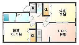 リヴェール新倉敷 A[1階]の間取り