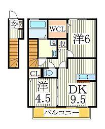 エクセレントマチハタ[2階]の間取り