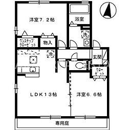 サンモール・Y A棟[102号室]の間取り