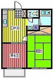 ハイツサキタマ2[2階]の間取り