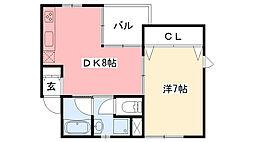 欅屋敷[304号室]の間取り