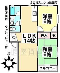 愛知県名古屋市瑞穂区汐路町3丁目の賃貸アパートの間取り