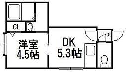 クリエイト琴似六番館[2階]の間取り
